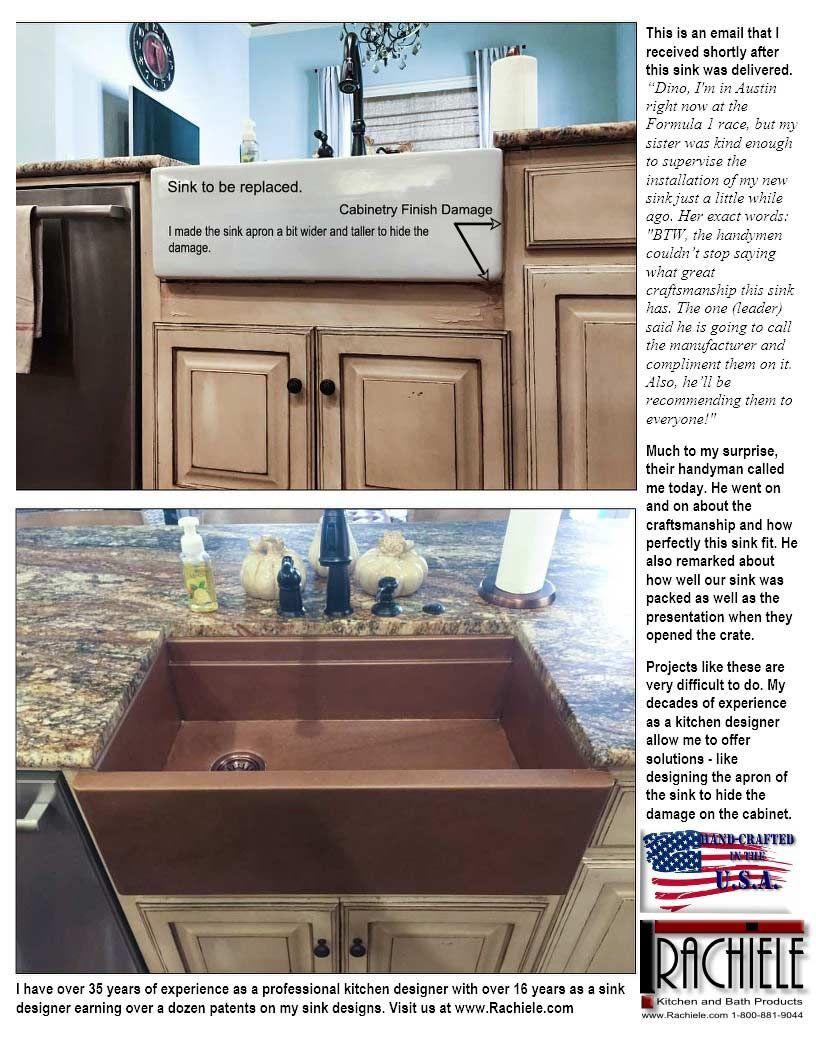 Replacement Farm Sink In Copper By Rachiele Custom Customsinks