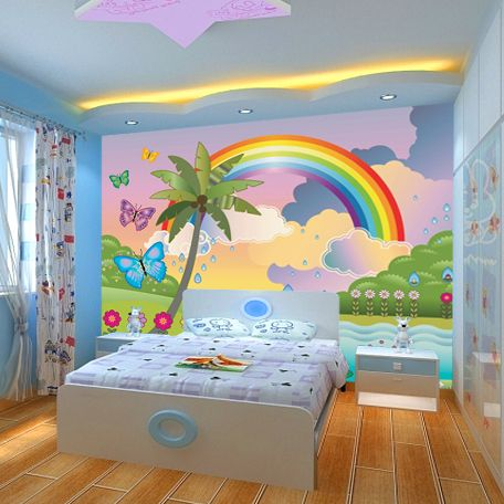 Charmant New Large Murals Can Be Customized Cartoon Children Room Rainbow Wallpaper  Kindergarten Early Education Wall Murals