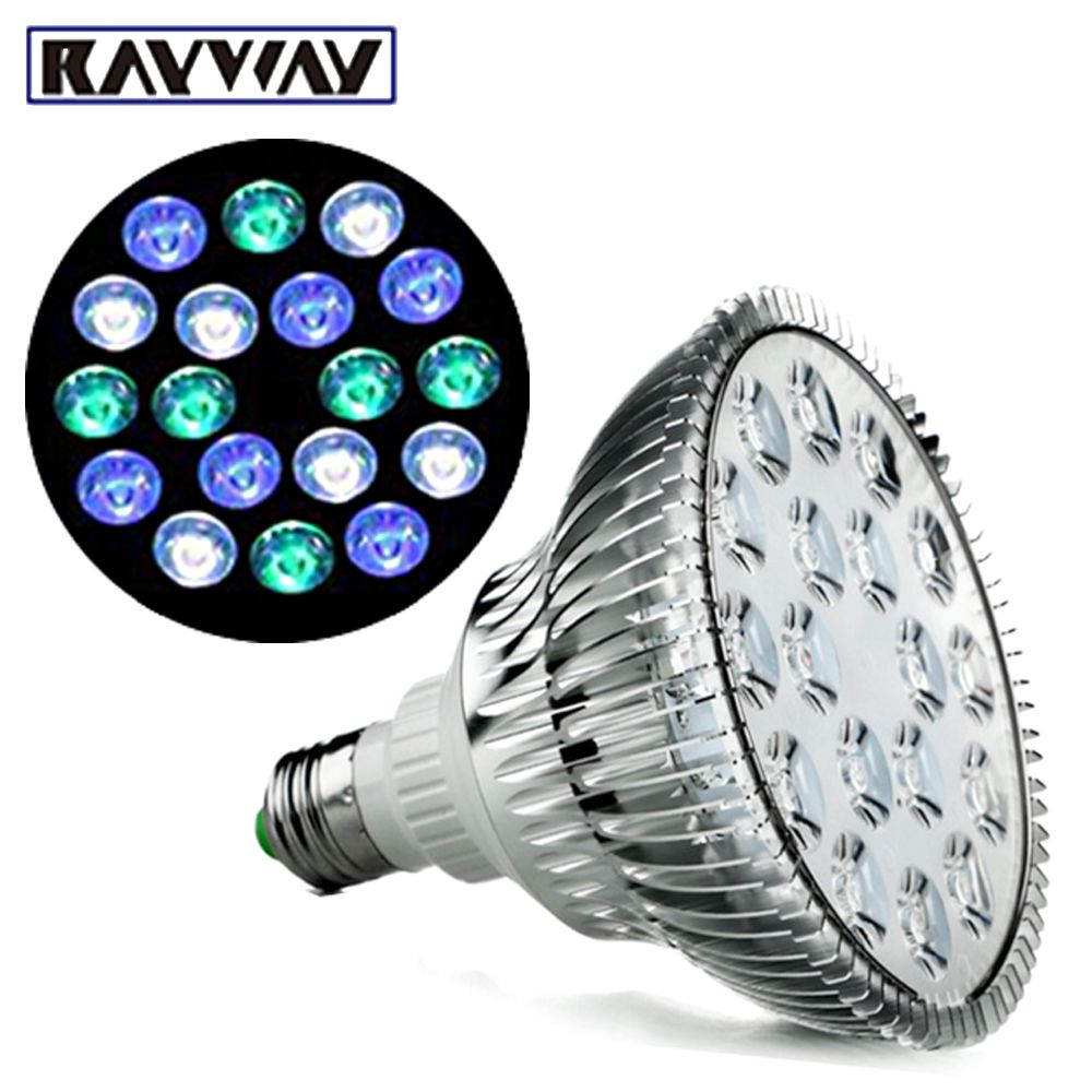 Rayway Full Spectrum Led Aquarium Lights E27 Cool White Blue Green Led Coral Reef Grow Light High Power Fish Led Aquarium Lighting Aquarium Lighting Green Led