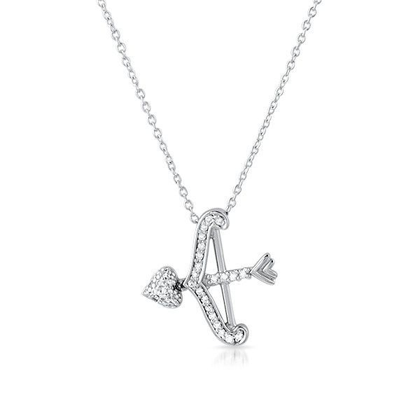 Sterling Silver CZ Cupid's Arrow Necklace