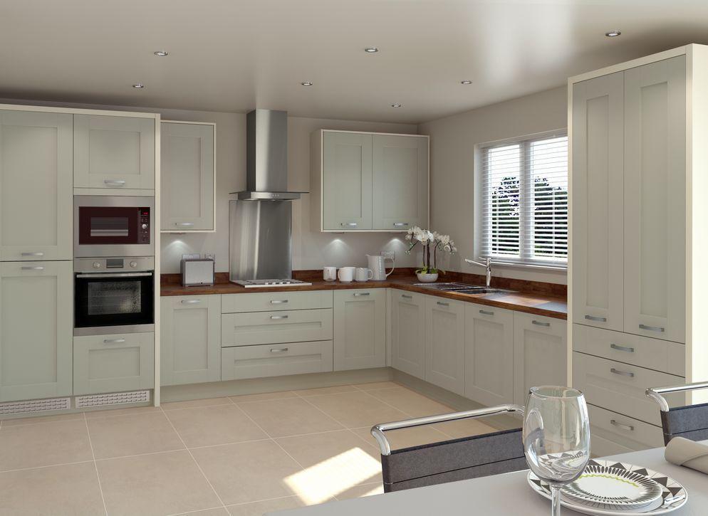 Cranbrook Sage Kitchen In 2019 Kitchen Cabinets Green