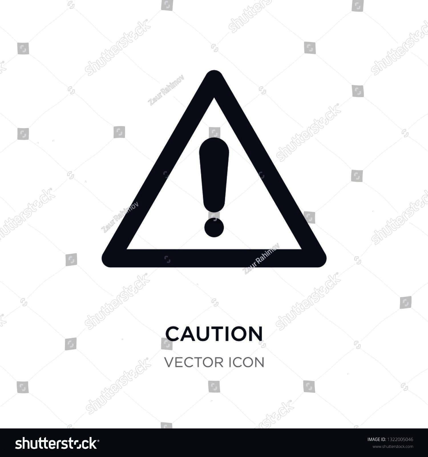 white background Simple element illustration from Alert concept caution sign icon symbol design caution icon on white background Simple element illustration from Alert co...