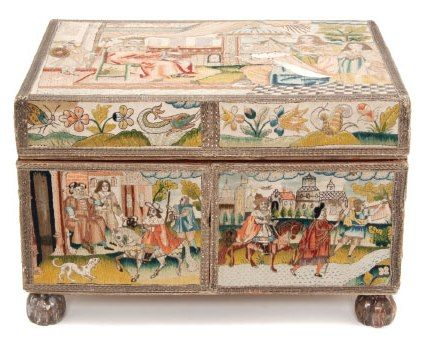 Charles 11 Needlework Casket sold in the US for $85,000 by Leslie Hindman Auctions