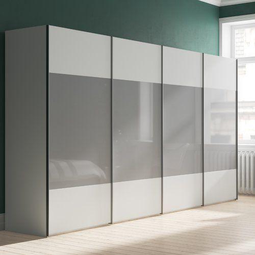 One 4 Door Sliding Wardrobe Express Mobel Size 216cm H X 400cm W X 68cm D Wardrobe Door Designs Wardrobe Design Bedroom Sliding Wardrobe Designs