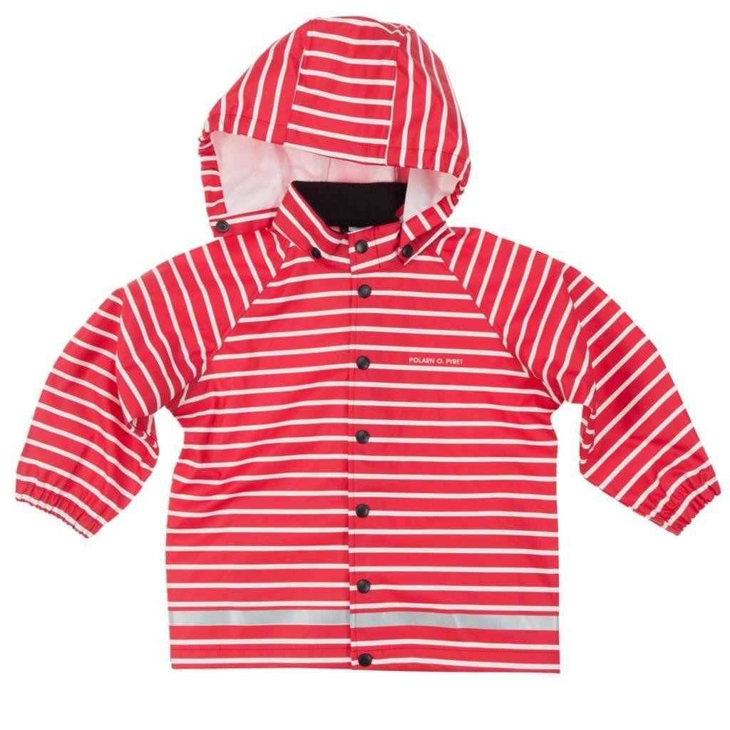 Pyret Classic Stripe RAIN Jacket Polarn O Baby