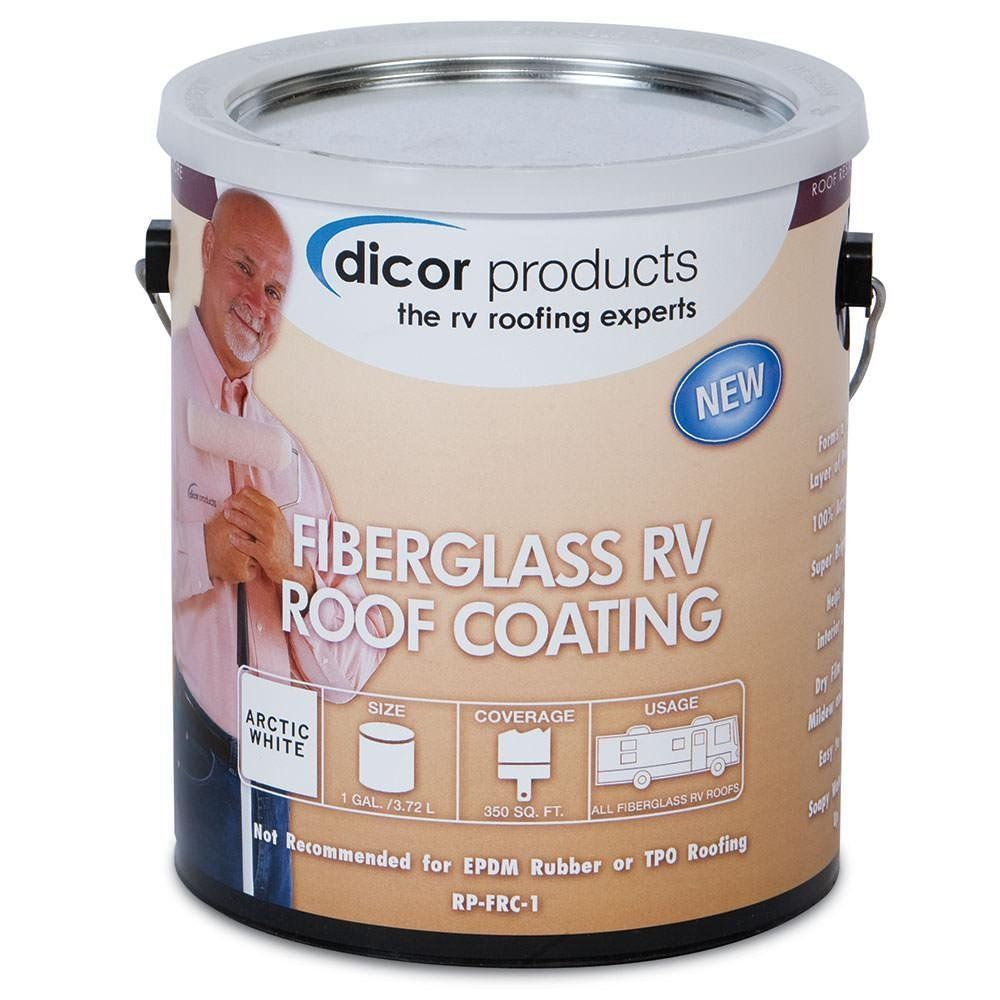 Dicor Rpfrc1 Fiberglass Rv Roof Coating 1 Gallon You Can Find Out More Details At The Link Of The Image Roof Coating Fiberglass Roof