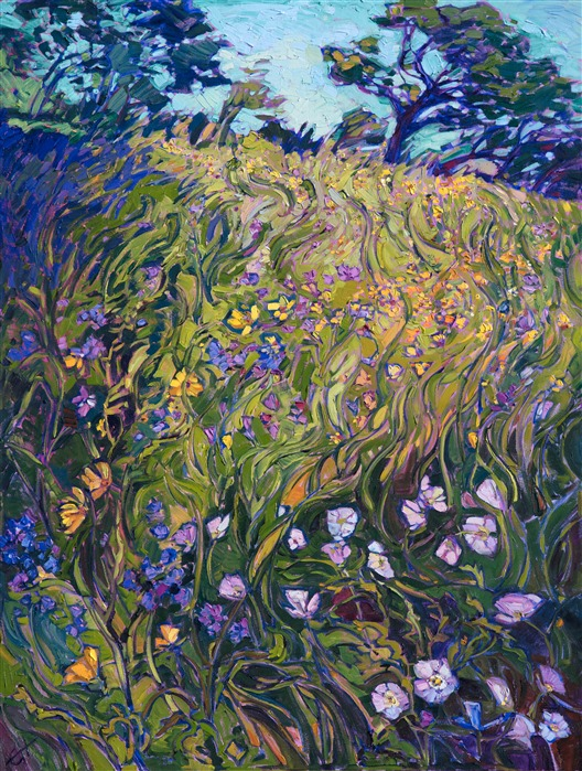 , Abstract flowers swirl together in a medley of purples and greens, a celebration of life and color. The impressionistic movement in the long spring gr…, Jessica Perez Blog, Jessica Perez Blog