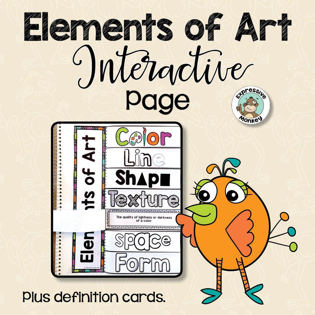Elements Of Art Interactive Page In