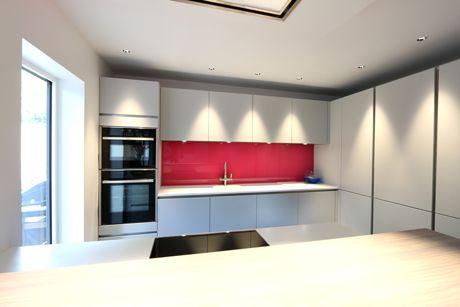Ridgemount Kitchen renovation back painted glass