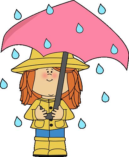 Umbrella Clipart : umbrella, clipart, MyCuteGraphics, Weather, Standing, Rain,, Clipart