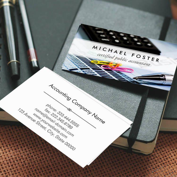 Certified Public Accountant Simple Minimal Elegant Business Card ...