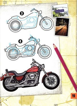 How To Draw Harley Motorcycles Sketch Design Motorcycle Art Painting Bike Drawing Motorcycle Drawing