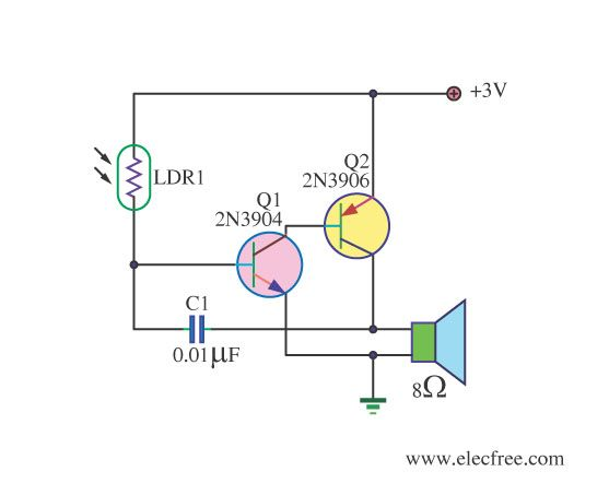5 Sound Effect Generator Circuit With Pcb Eleccircuit Com Electronics Circuit Circuit Diy Guitar Amp