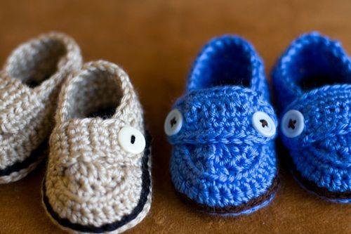 Zapatitos tejido para niña - Imagui