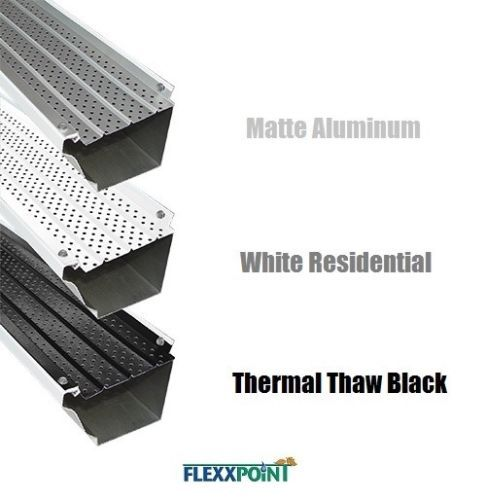 Flexxpoint 30 Year Gutter Cover System White Residential 5 034 Gutter Guards 20 Mold In Bathroom