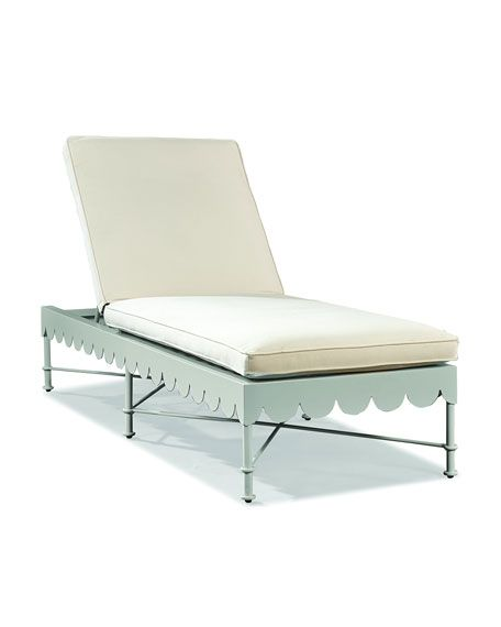 Patio Furniture Chaise Cushions: Scalloped Awning Chaise