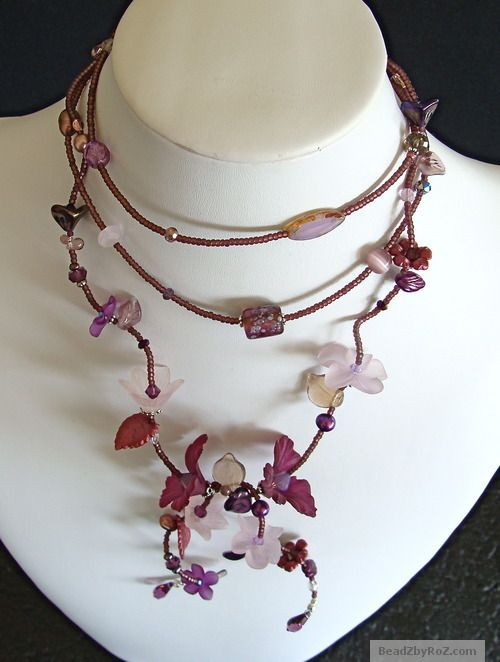 You can have this fabulous, unique, feminine, wearable art- Purple Garden Lariat for $75.  An original work from one of our new crafters! Be sure to watch for her pieces on Stylish Crafters.