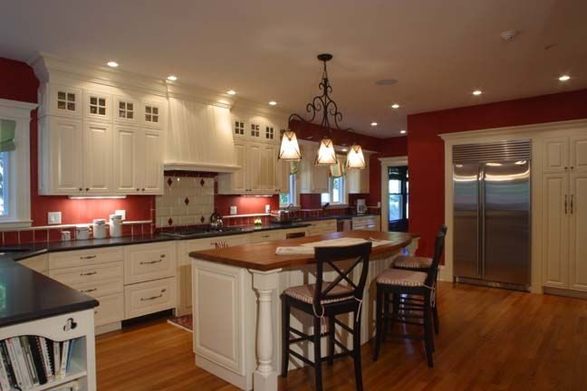 Traditional Kitchen in Renovated Home in Swampscott by ...