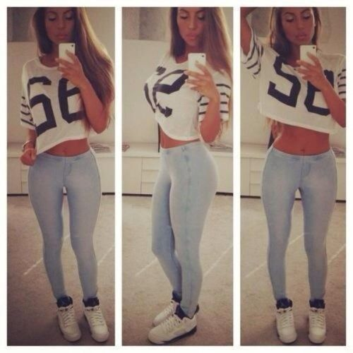 What To Wear With High Waisted Skinny Jeans -10 Way To Style High ...