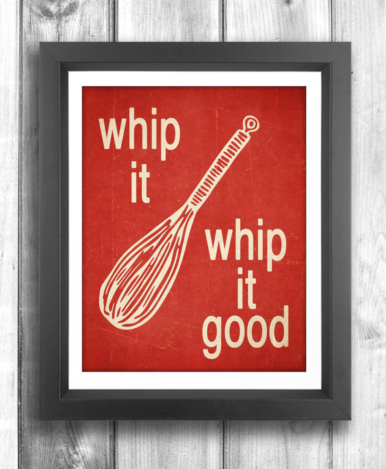 Typographic Poster Digital Print Kitchen Wall Art
