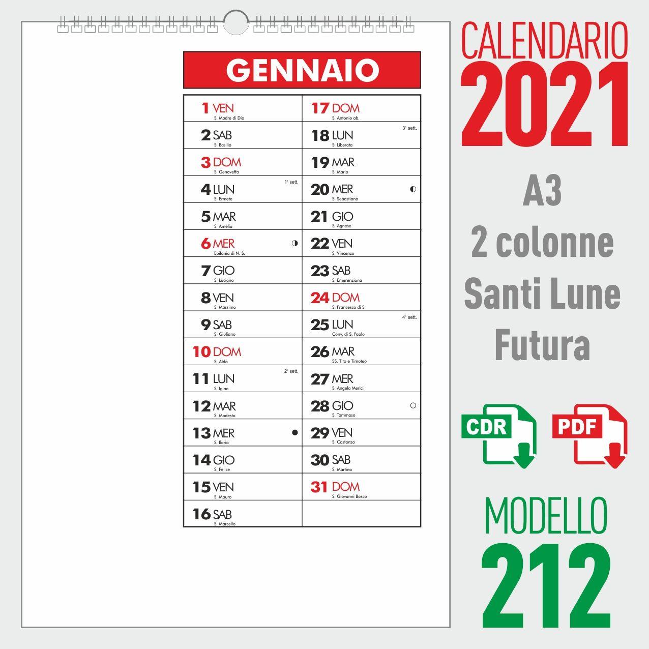 Calendario 2021 Pdf Con Foto Calendario 2021 mensile | Calendario, Idee fai da te, Colori