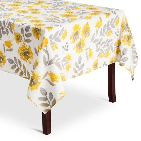 Yellow Floral Tablecloth - Threshold™