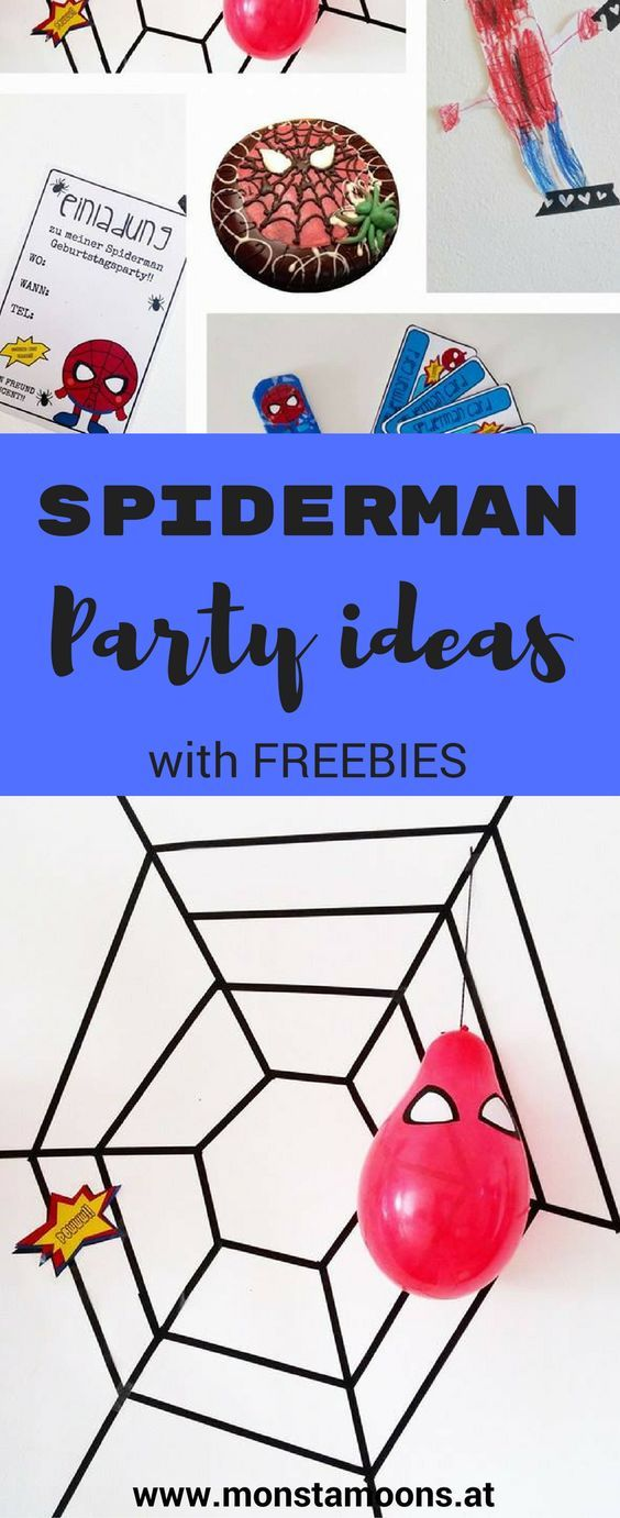 Spiderman Crafts, Spiderman Party, Spiderman Geburtstag, Spiderman Basteln,  Craft A Spiderman,