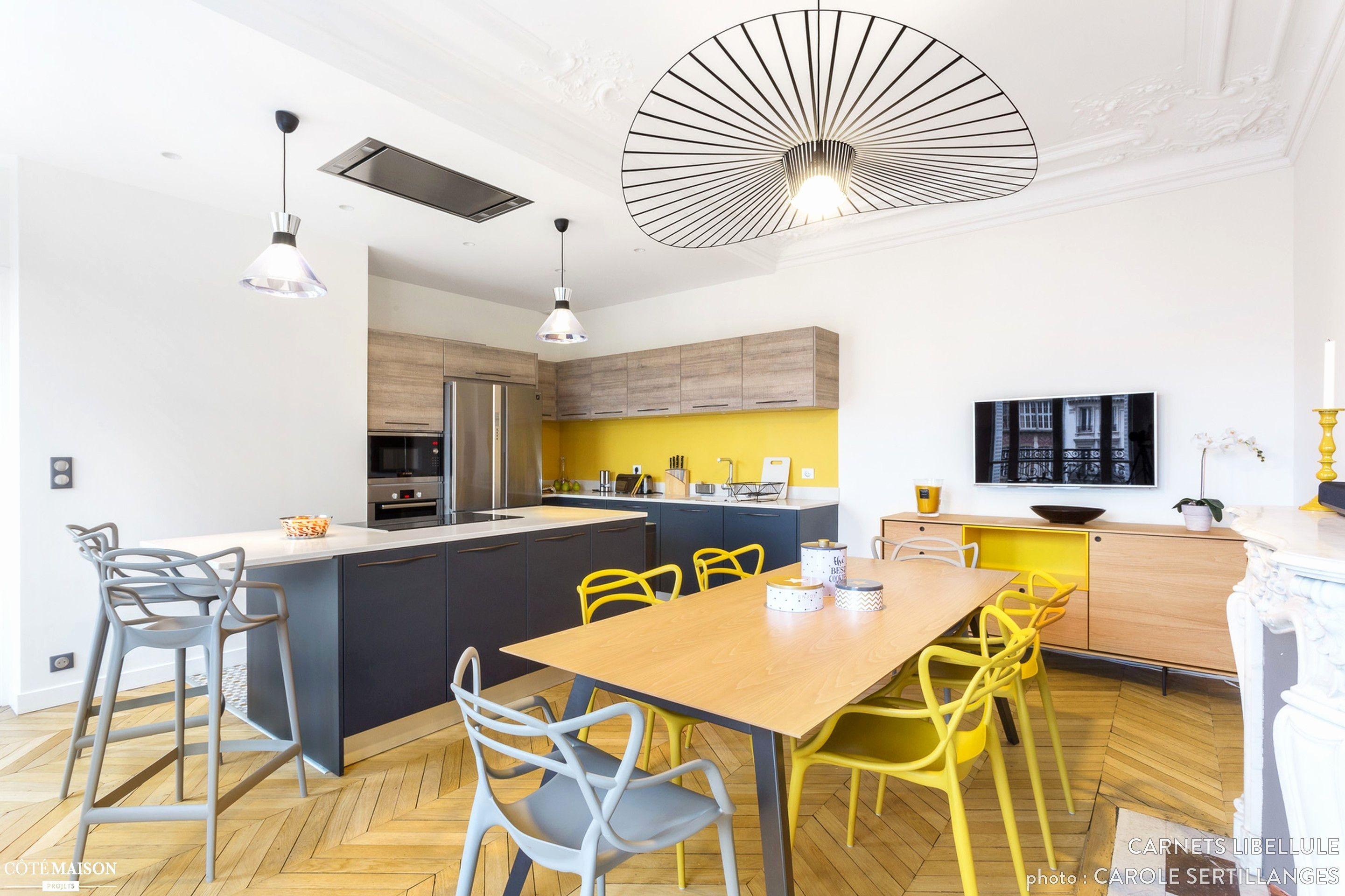 Elegant Amenagement Salon Cuisine 18m18  Cuisine ouverte salle a