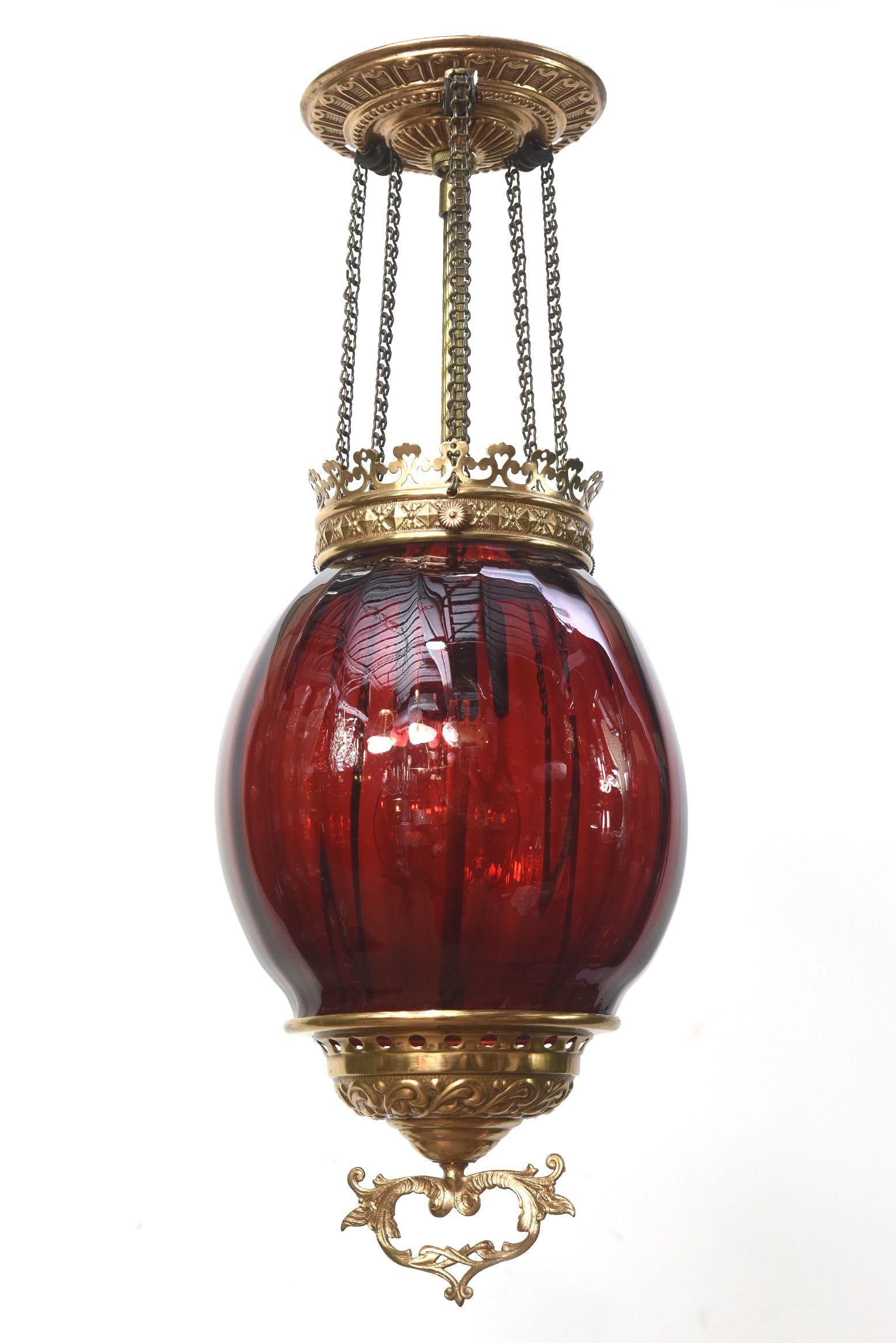 Ruby Glass Oil Lantern Appleton Antique Lighting Oil Lantern Antique Oil Lamps Antique Lighting