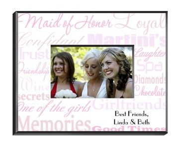 Maid Of Honor Picture Frame Personalized Maids Wedding Planning