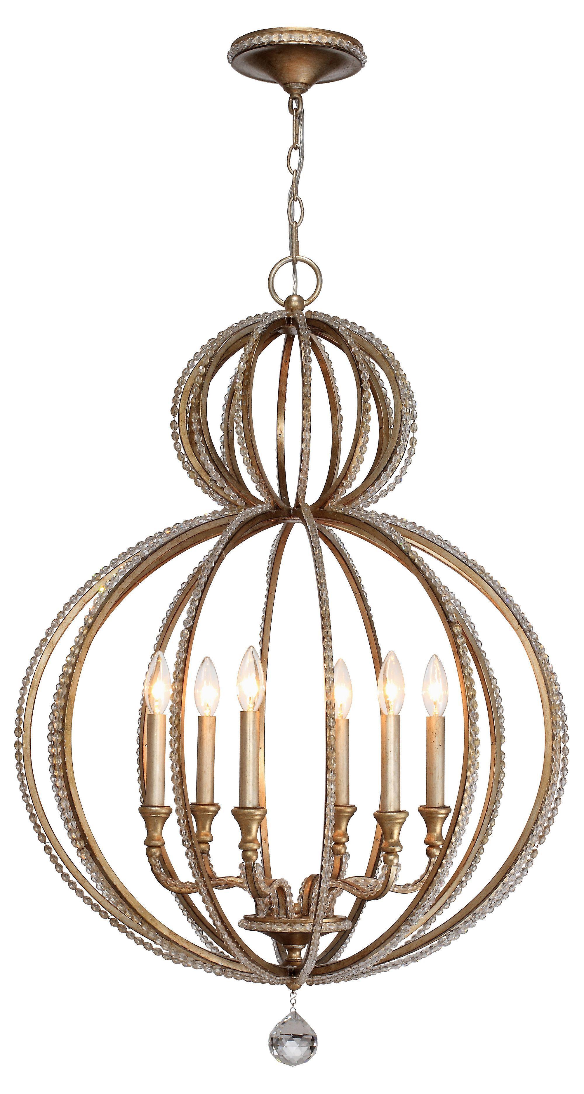 6 light crystal chandelier twilight one kings lane d 6 light crystal chandelier twilight one kings lane arubaitofo Images