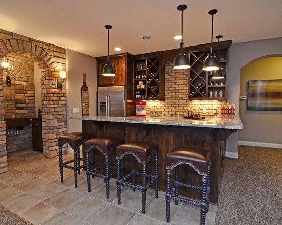 basement wine bar...wish I had a basement.