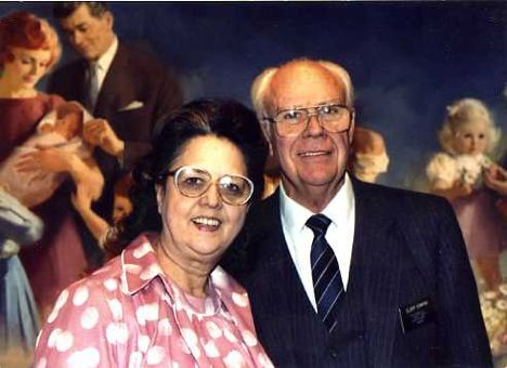 George and Olive Osmond.