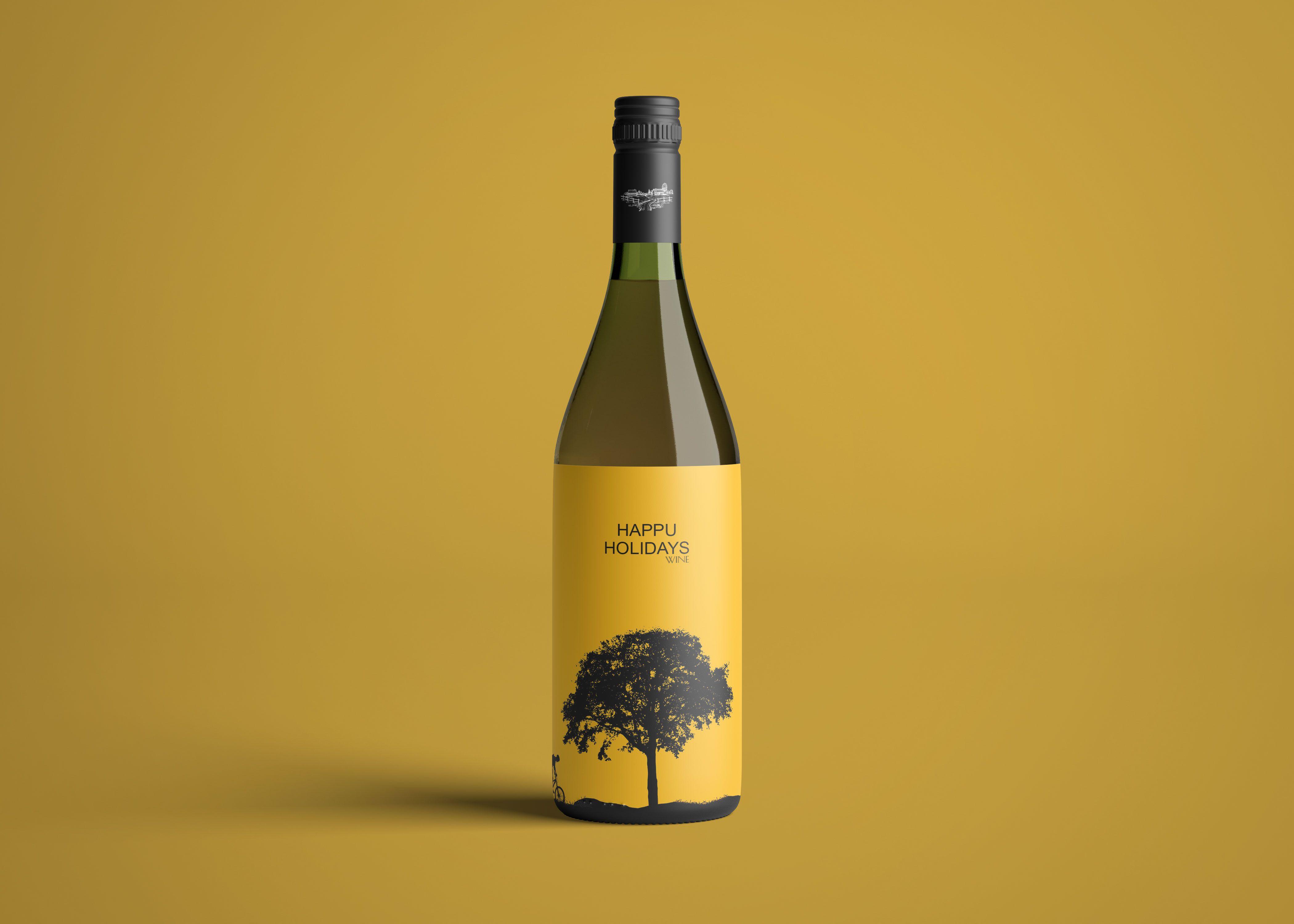 Premium Wine Bottle Label Mockup 2019 Bottle Mockup Logo Design Mockup Wine Bottle Labels