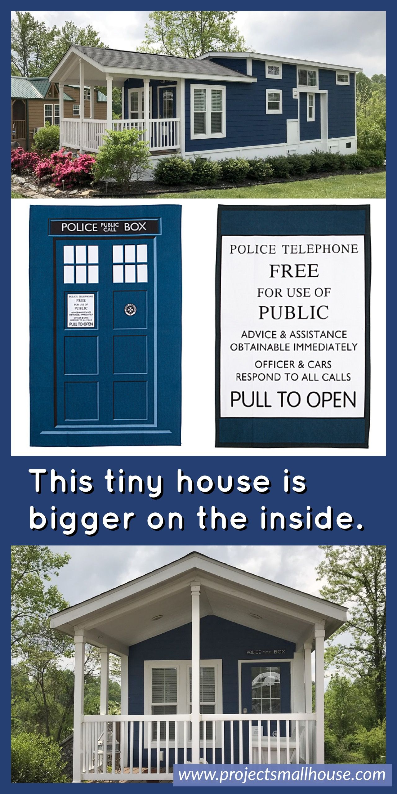 This tiny house is bigger on the inside. Doctor Who Tardis  Tiny