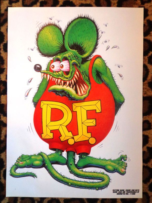 #vintage #ratfink #poster #edroth #edbigdaddyroth #bigdaddyroth #mooneyes #art #print