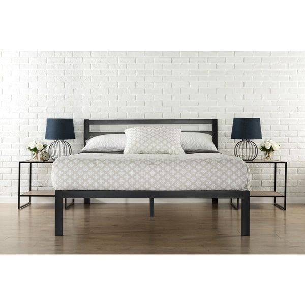 Priage 3000H Queen-Size Platform Bed with Headboard | Overstock.com ...