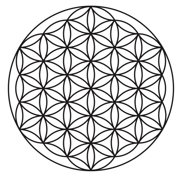 Flower Of Life Png 609 595 Flower Of Life Tattoo Crystal Grid Sacred Geometry