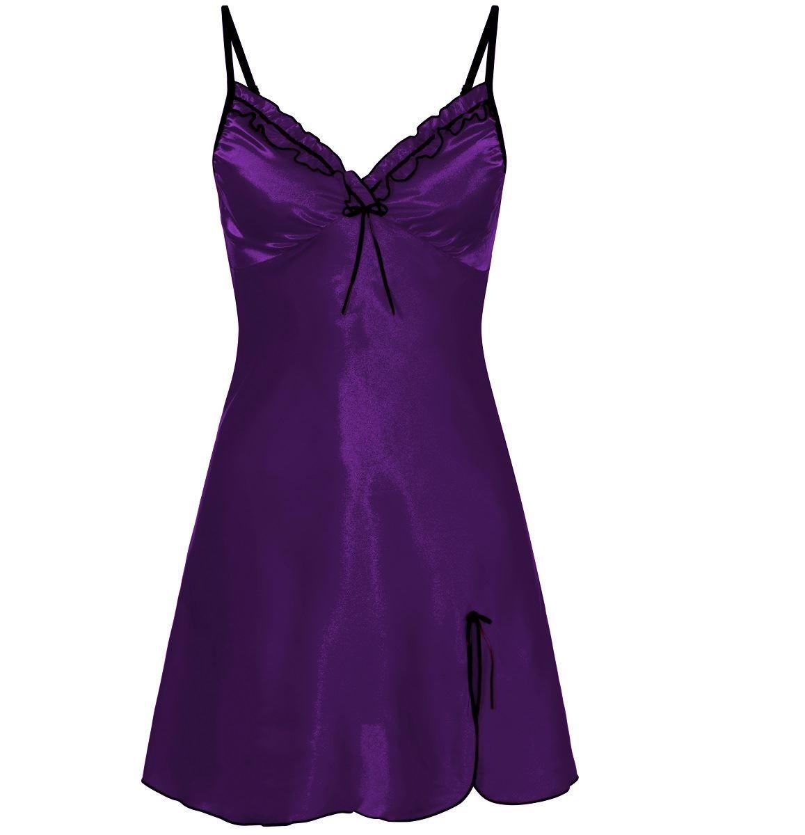 d4c8c2fad0b Nine X Ladies Satin Chemise Plus Size Lingerie S-5XL Babydoll Underwear  Chemise Size Ladies