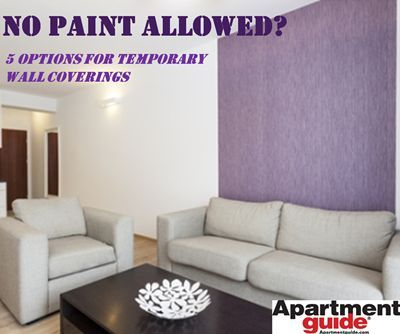 No Paint Allowed 11 Options For Temporary Wall Coverings