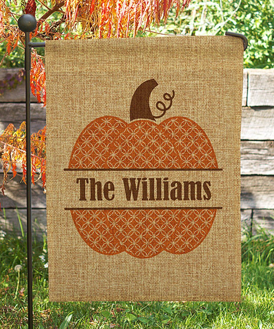 Take a look at this Pumpkin Personalized Garden Flag today! | FOR ME ...