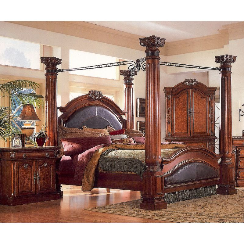 four poster king bed | Queen 4 Poster Bed3218A-10 - Home Furniture | City  sc 1 st  Pinterest & four poster king bed | Queen 4 Poster Bed3218A-10 - Home Furniture ...
