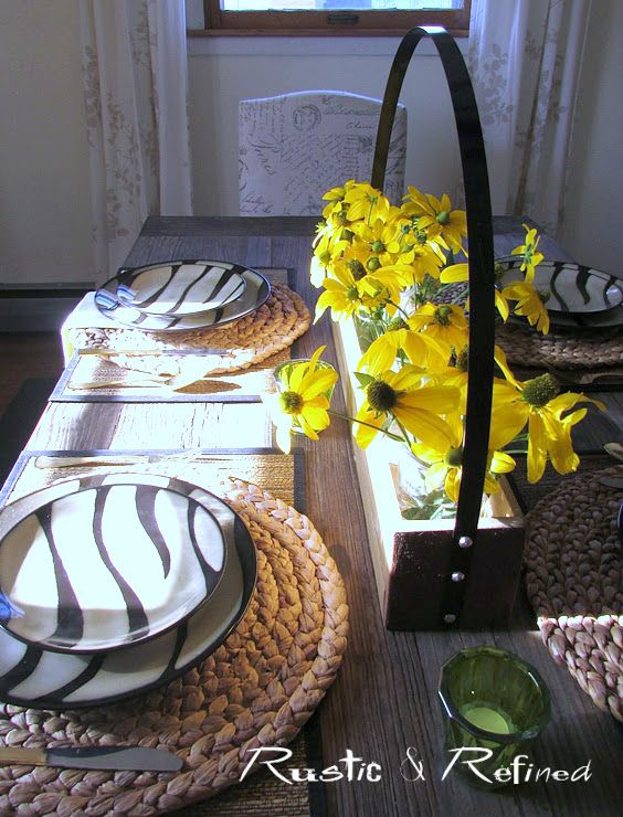 Zebra Dishes Tablescape for Breakfast | Dishes and Breakfast table ...