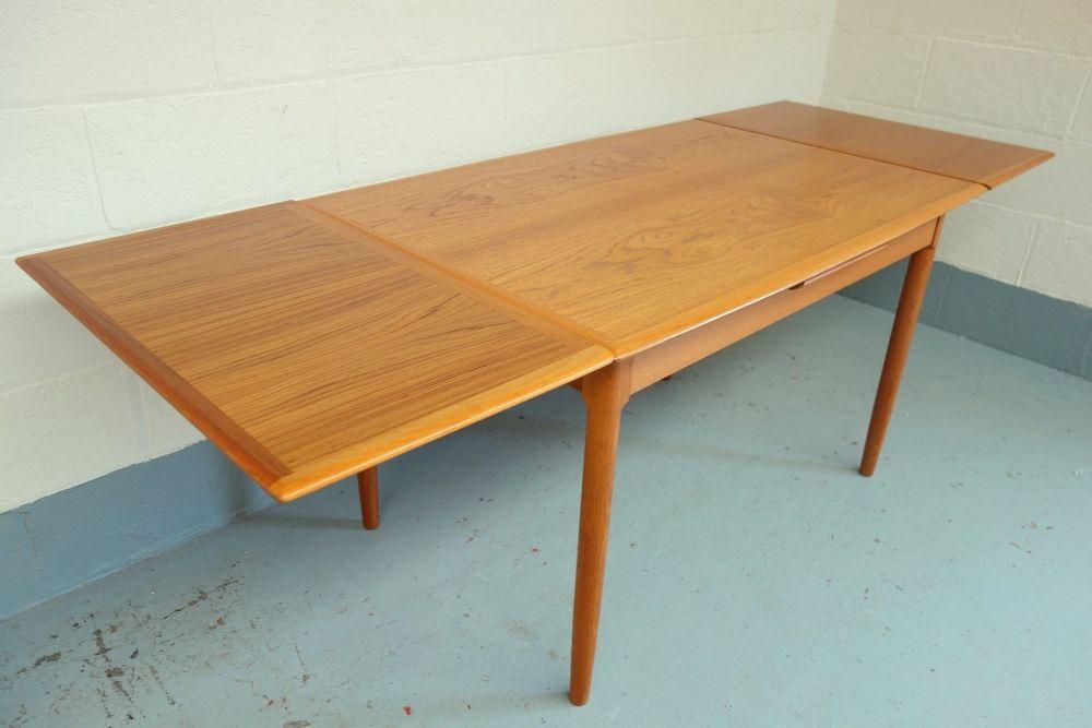 Stunning Danish Mid Century Teak Extending Dining Table 1960s