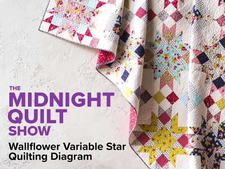 Free Quilt Pattern: Wallflower Variable Star Quilting ...