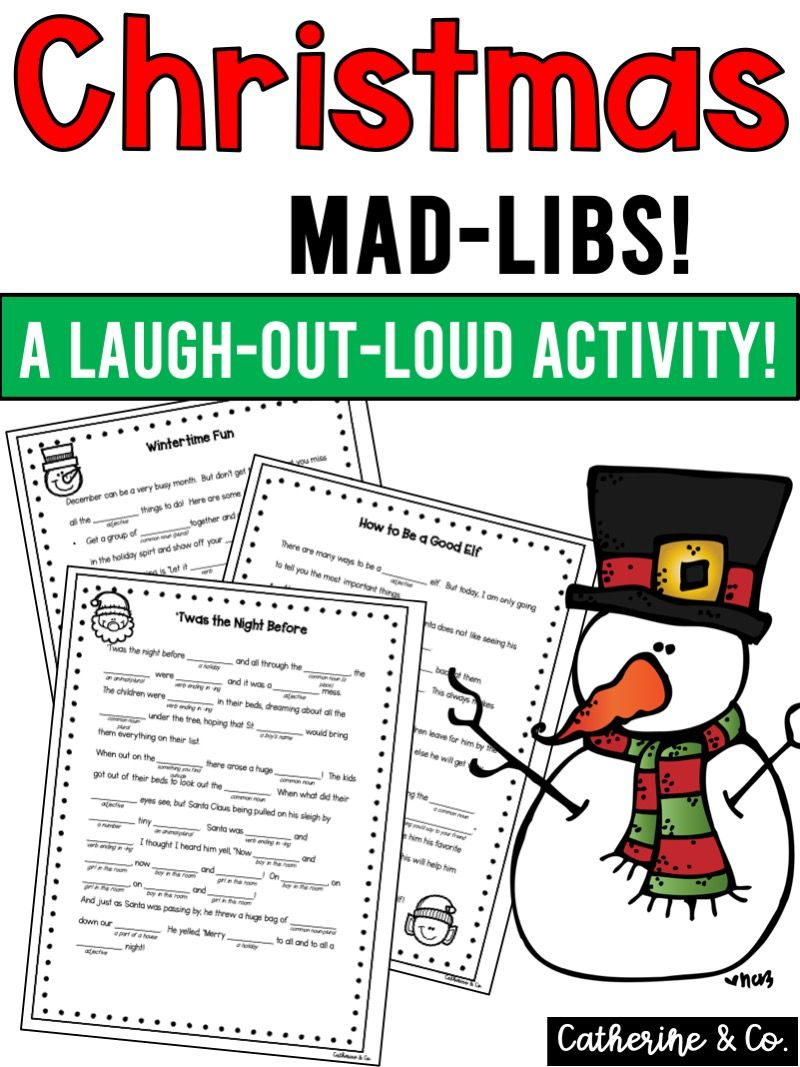 Photo of Christmas Activity Mad Libs