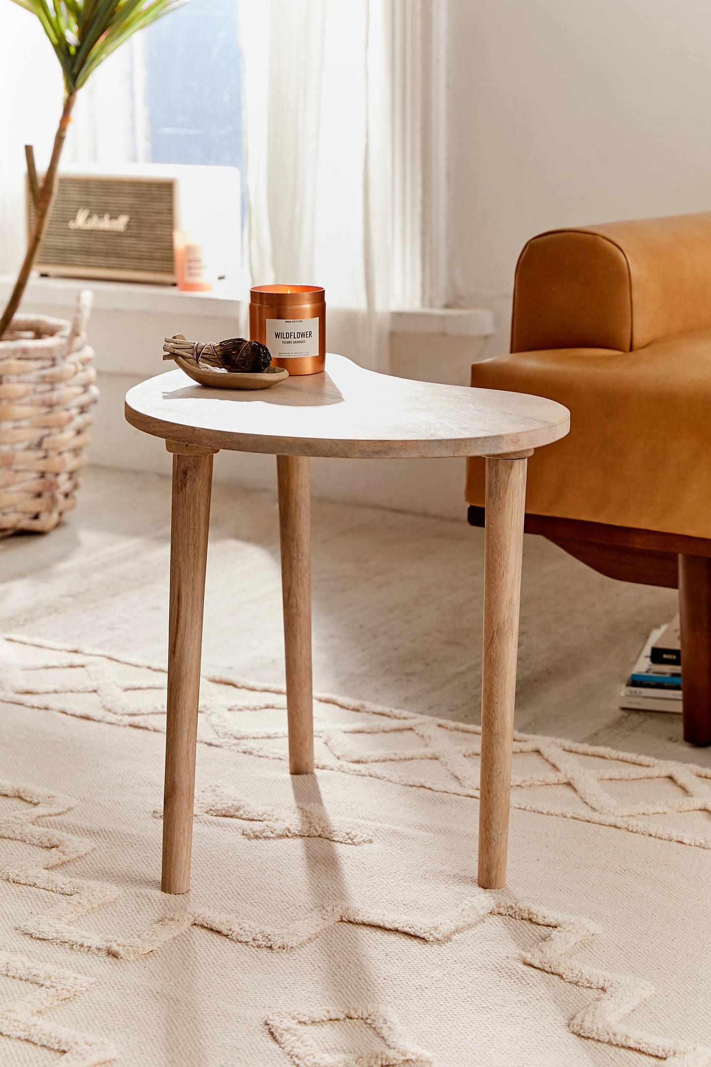 Mae bean side table eclectic coffee tables side table
