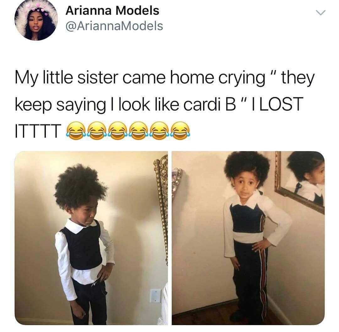 Cardib Cardi Offset Memes Memes Memeaccount Funny Post Hilarious Humour Lol Kids Funny Black Memes Funny Facts Really Funny Memes