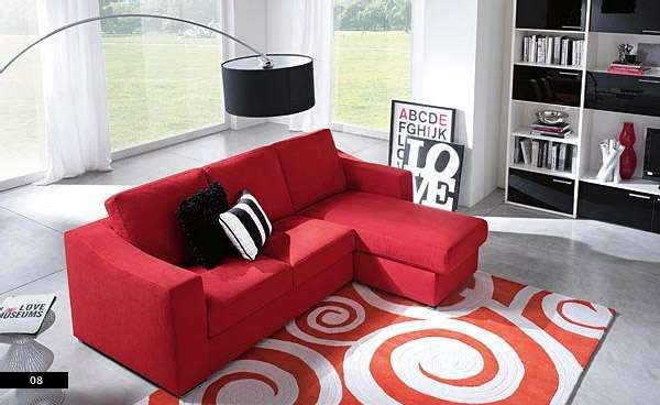 Modern Red Sofa Living Room Color Ideas For
