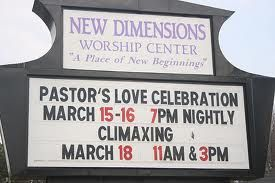 The pastor's a very demonstrative guy...